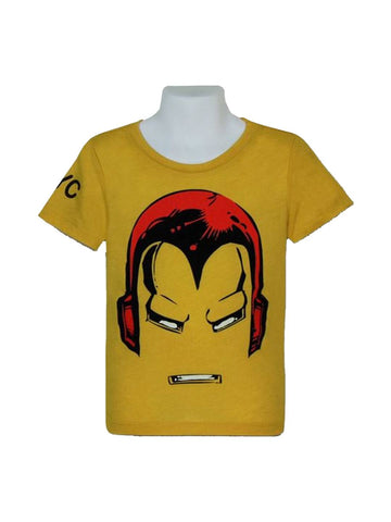 Iron Man Helmet NYC Kids 30 Single T-Shirt - Planet Superhero