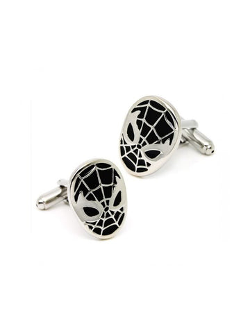 SPIDERMAN-BLACK CUFFLINK - Planet Superhero