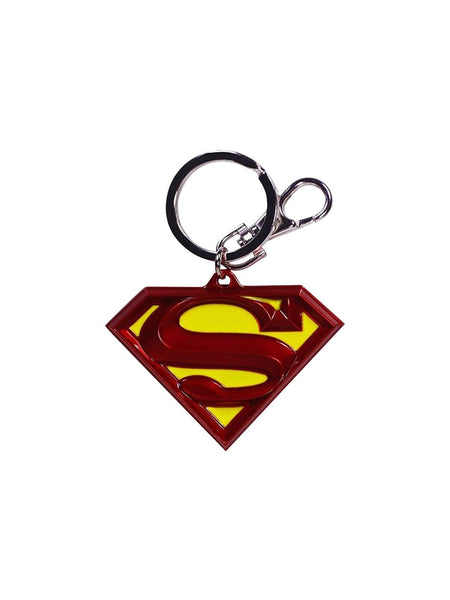 Superman Logo Metal Coloured Key Chain - Planet Superhero