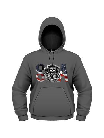 Sons Of Anarchy Flag Hoodie - Planet Superhero