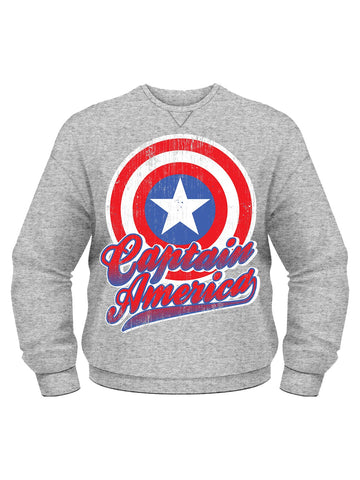 Captain America Crew Neck Sweat Shirt - Planet Superhero