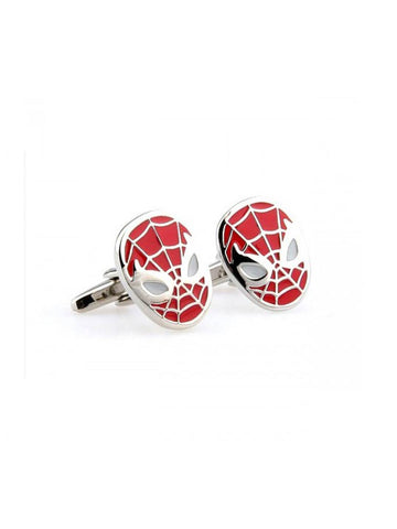SPIDERMAN-RED CUFFLINK - Planet Superhero