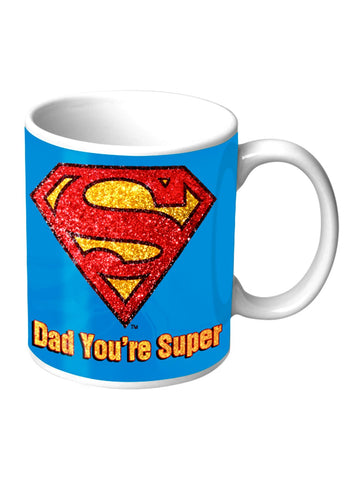 SUPERMAN DAD YOU'RE SUPER GLITTER MUG - Planet Superhero