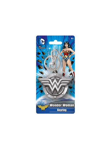 Wonder Woman Logo Pewter Key Chain - Planet Superhero