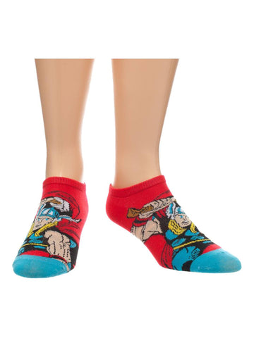 Marvel Red Thor Ankle Socks - Planet Superhero