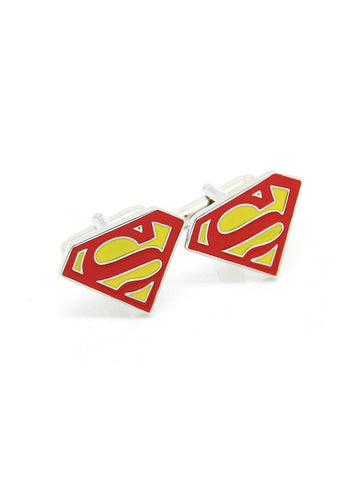 SUPERMAN-YELLOW CUFFLINK - Planet Superhero