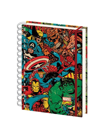 Marvel - Retro Collage A5 Notebook - Planet Superhero