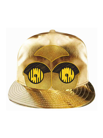 Star Wars C3P0 gold Metallic Cap - Planet Superhero