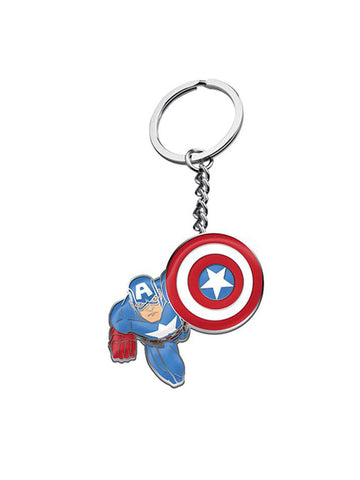 Captain America Metal Keychain - Planet Superhero