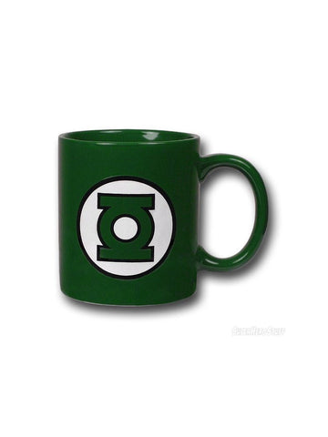 Green Lantern Logo Green Coffee Mug - Planet Superhero