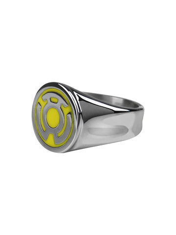 Yellow Lantern Symbol Stainless Steel Ring - Planet Superhero