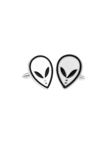WHITE ALIEN CUFFLINK - Planet Superhero