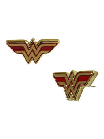 Wonder Woman Symbol Stud Earrings - Planet Superhero