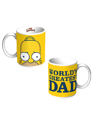 The Simpsons - World's Greatest Dad Mug - Planet Superhero