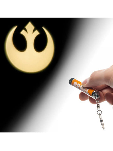 Star Wars Rebel Forces Logo Projection Flashlight Keychain - Planet Superhero