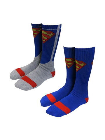 Superman Athletic Crew Sock 2-Pair Pack - Planet Superhero