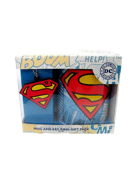 Superman mug and key ring gift pack - Planet Superhero