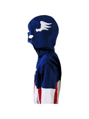 Captain America Kids Masked Costume Hoodie - Planet Superhero