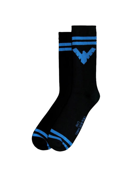 Nightwing Symbol Black Crew Socks - Planet Superhero