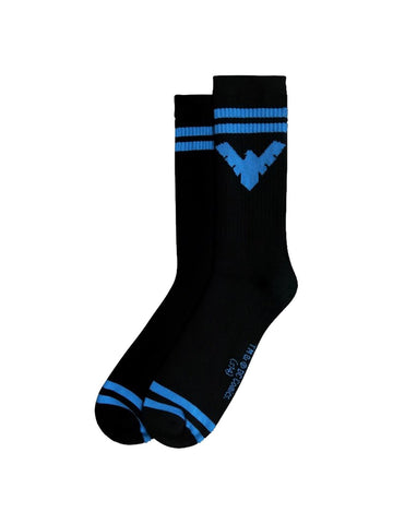 Nightwing Symbol Black Crew Socks