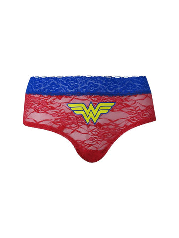 Wonder Woman Women's Lace Hipster Panty - Planet Superhero