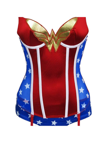 Wonder Woman Corset & Panty Set - Planet Superhero