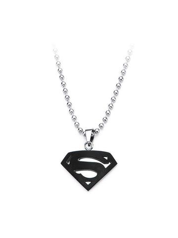 Man Of Steel black Pendant Chain - Planet Superhero