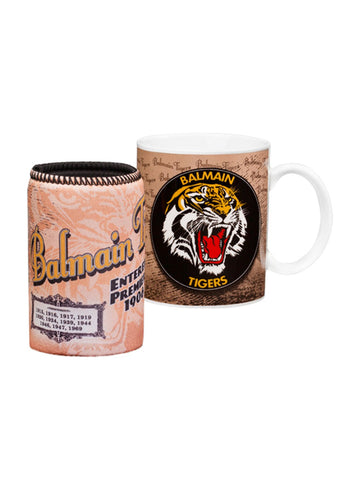 NRL Tigers Heritage Coffee Mug and Cooler gift pack - Planet Superhero