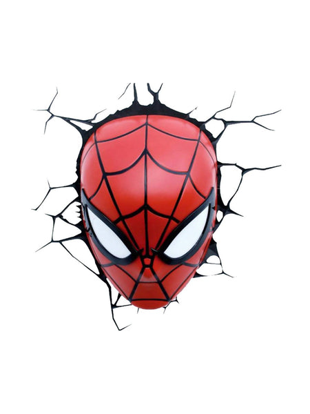 Spiderman Mask 3D light - Planet Superhero