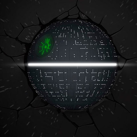 Star Wars 3D Night Light - Death Star - Planet Superhero