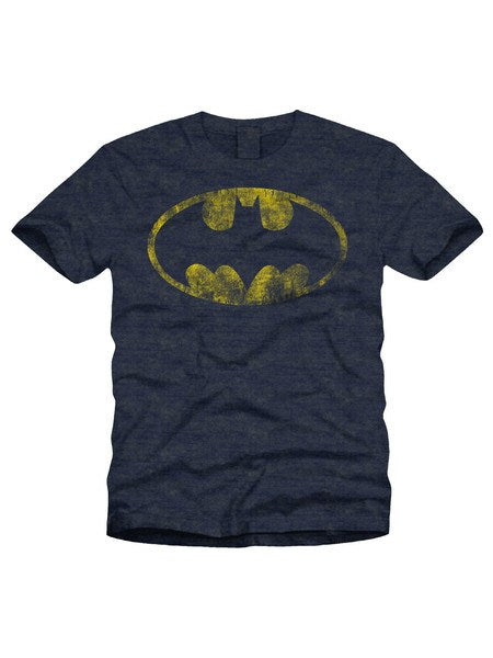 Batman Logo With Distressed Effect T-Shirt - Planet Superhero