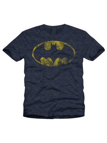 Batman Logo With Distressed Effect T-Shirt