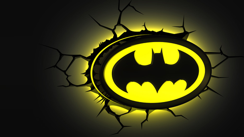 Batman Logo 3D Light