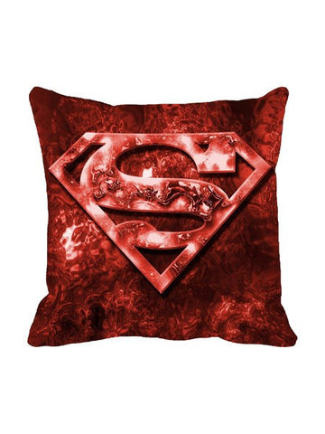 Superman Logo Blood Red Cushion Cover Original - Planet Superhero