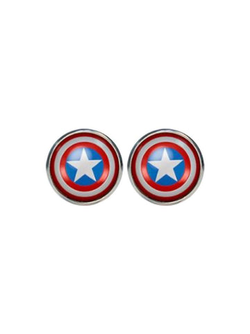 Captain America Logo Studs - Planet Superhero