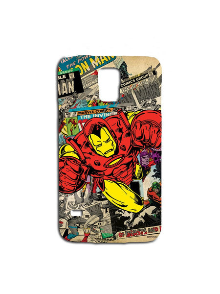 Ironman Comicstrip Samsung S5 Case - Planet Superhero
