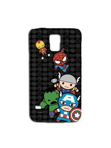 Kawaii Art Marvel Comics Samsung S5 Case - Planet Superhero