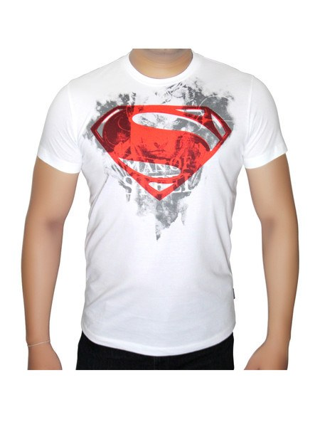 Man of Steel Red and White logo - Planet Superhero