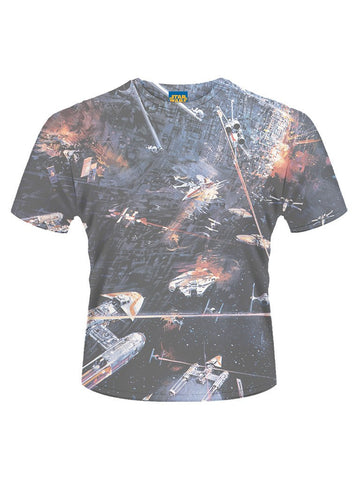 Star Wars huge Space Battle T-Shirt - Planet Superhero