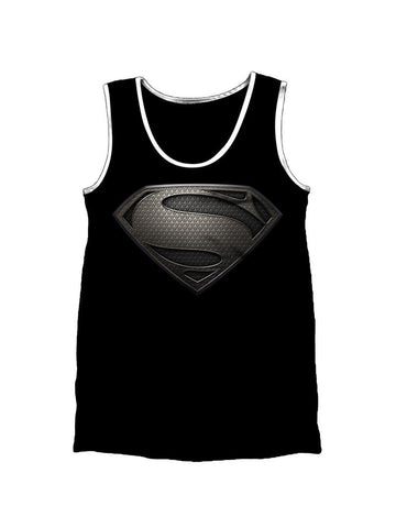Superman Black Logo Vest - Planet Superhero