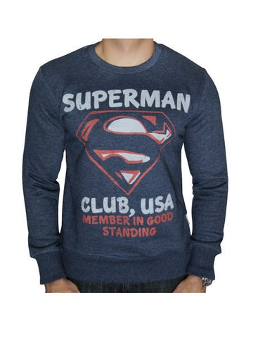 Superman Club Blue Melange Sweatshirt - Planet Superhero