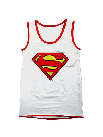 Superman White Logo Vest - Planet Superhero