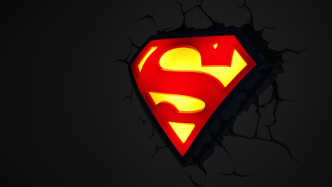 Superman Logo 3D Light - Planet Superhero