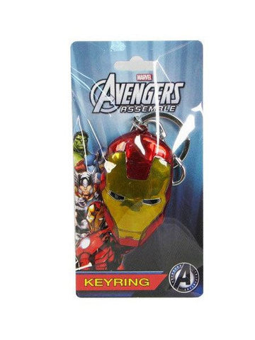 Iron Man Face Colored Pewter Key Chain - Planet Superhero