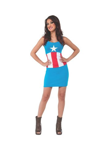 Captain America Tank Dress - Planet Superhero