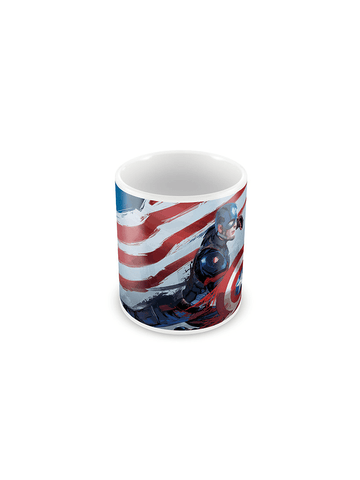 Captain America Art Coffee Mug - Planet Superhero