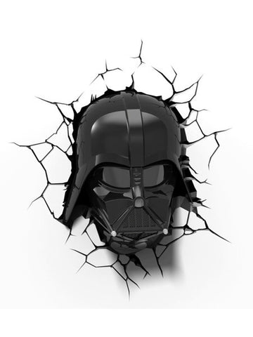 Star Wars: 3D LED Wall Light - Darth Vader - Planet Superhero