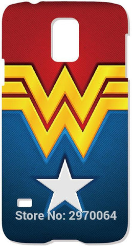 Wonder Woman Logo Phone Cover For Samsung Galaxy C5 E5 E7 G350 G360 i9082 S2 S3 S4 S5 Mini S6 S7 Edge S8 Plus Note 2 3 4 5 Case