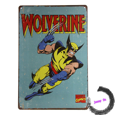 Wolverine Retro  wall decor Sticker
