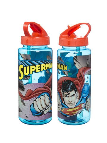 Superman Tritan Drink Bottle Plastic Superhero Hero - Planet Superhero